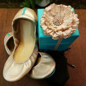 Tieks Rosé, Size 8, Brand New, with Box and Flower